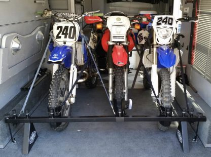 Motorcycle rack for all types of trailers