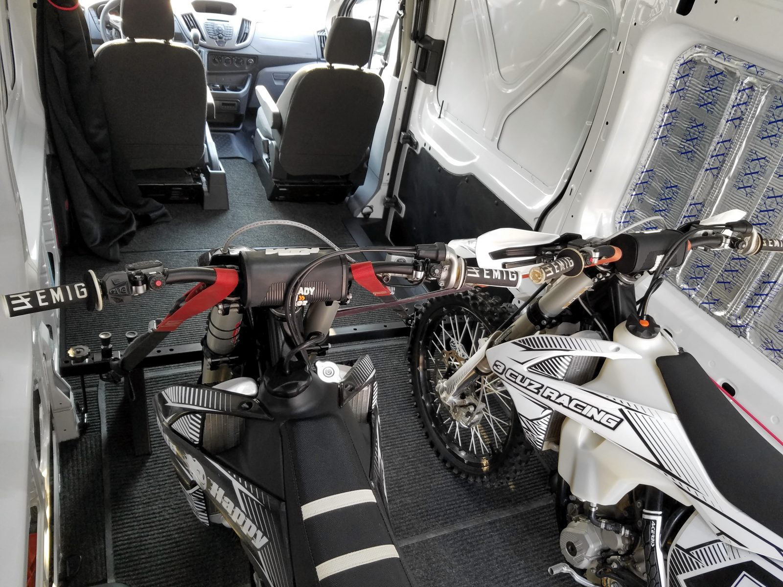 ford transit motorcycle carrier