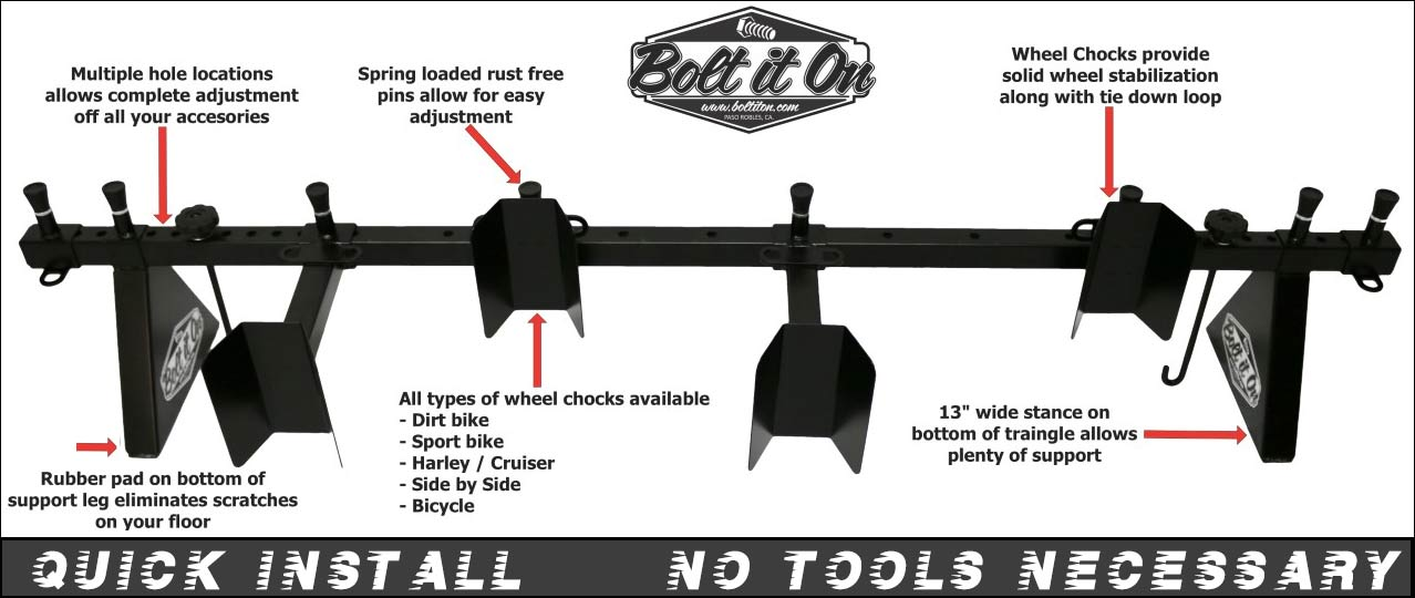 Removable motorcycle carrier rack